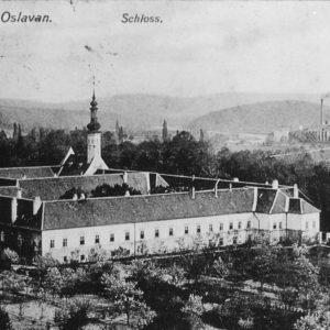 stará pohlednice zámek Oslavany