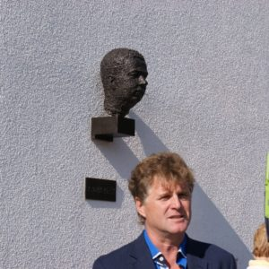 starosta pod bustou Menšíka