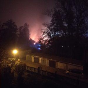 pohled na požár z ulice Na Volvách Ivančice