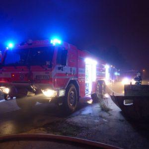 zásahové vozidlo Tatra při Požár Ivančice 27.10.2018 Ekotex