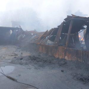 požár Ekotex 27.10.2019 po 9 hodině ráno