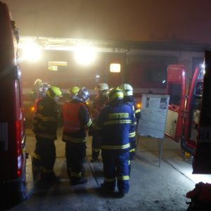 hasiči porada Požár Ivančice 27.10.2018 Ekotex